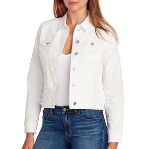 Nine West Women's Denim Jacket, White